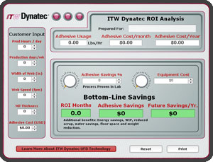 Calculate your savings and ROI using UFD technology from ITW Dynatec.