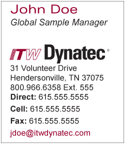 ITW Dynatec email signature download